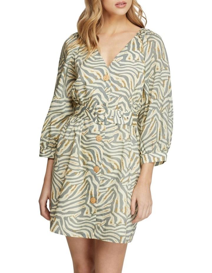 Peony Grey Animal Print Dress image 1