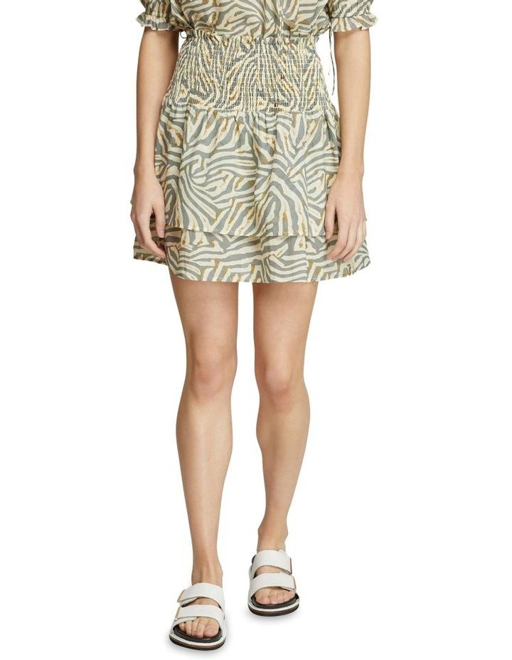 Ryder Grey Animal Print Skirt image 1