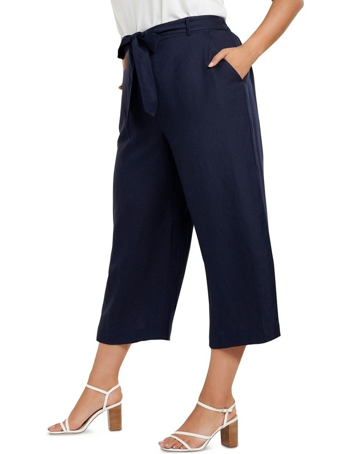 Becky Curve Linen Tie Front Culottes image 2