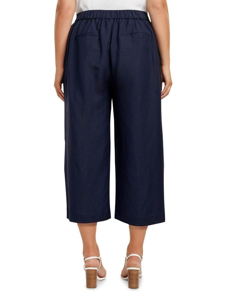 Becky Curve Linen Tie Front Culottes image 3