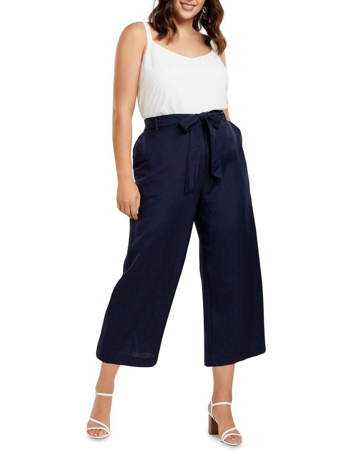 Becky Curve Linen Tie Front Culottes image 4