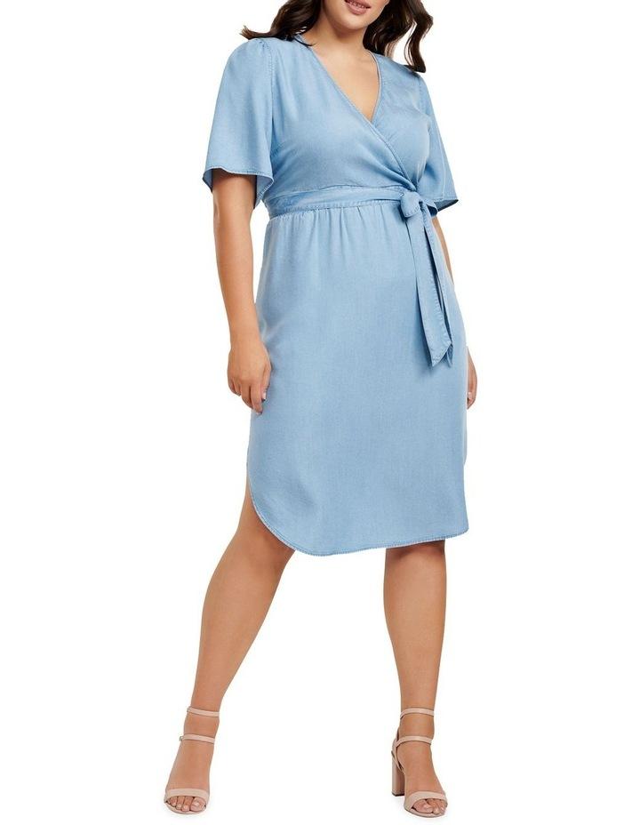Cassie Curve Wrap Over Midi Dress image 1