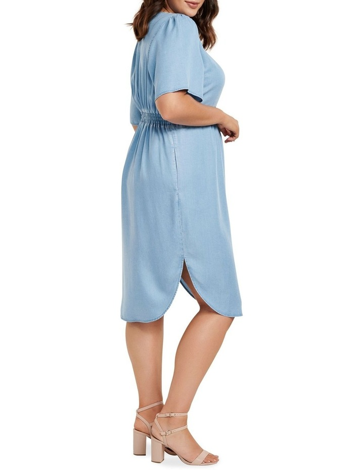 Cassie Curve Wrap Over Midi Dress image 3