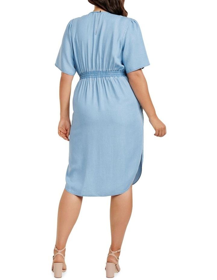 Cassie Curve Wrap Over Midi Dress image 4