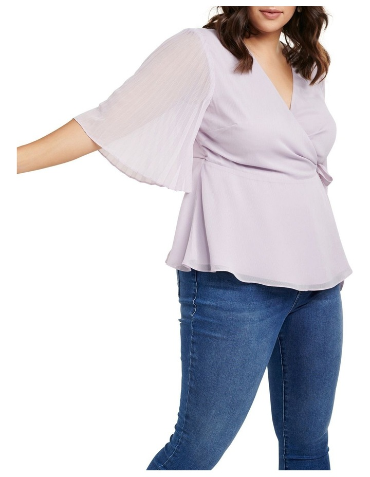 Thea Curve Pleat Sleeve Wrap Blouse image 2