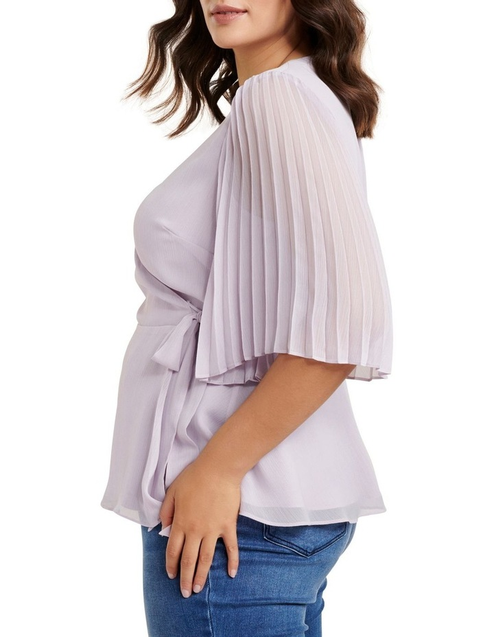 Thea Curve Pleat Sleeve Wrap Blouse image 3