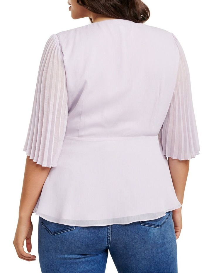 Thea Curve Pleat Sleeve Wrap Blouse image 4