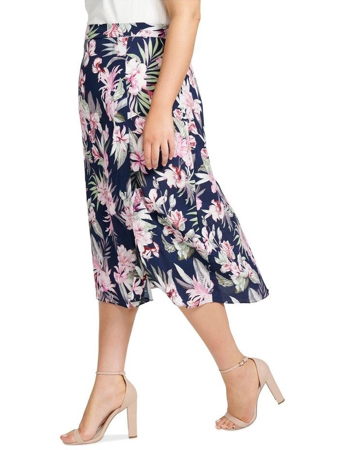 Charlie Split Front Curve Midi Skirt image 2