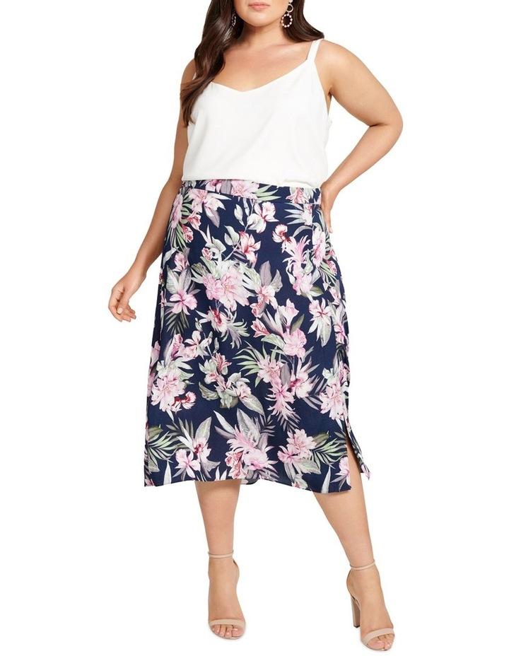 Charlie Split Front Curve Midi Skirt image 4
