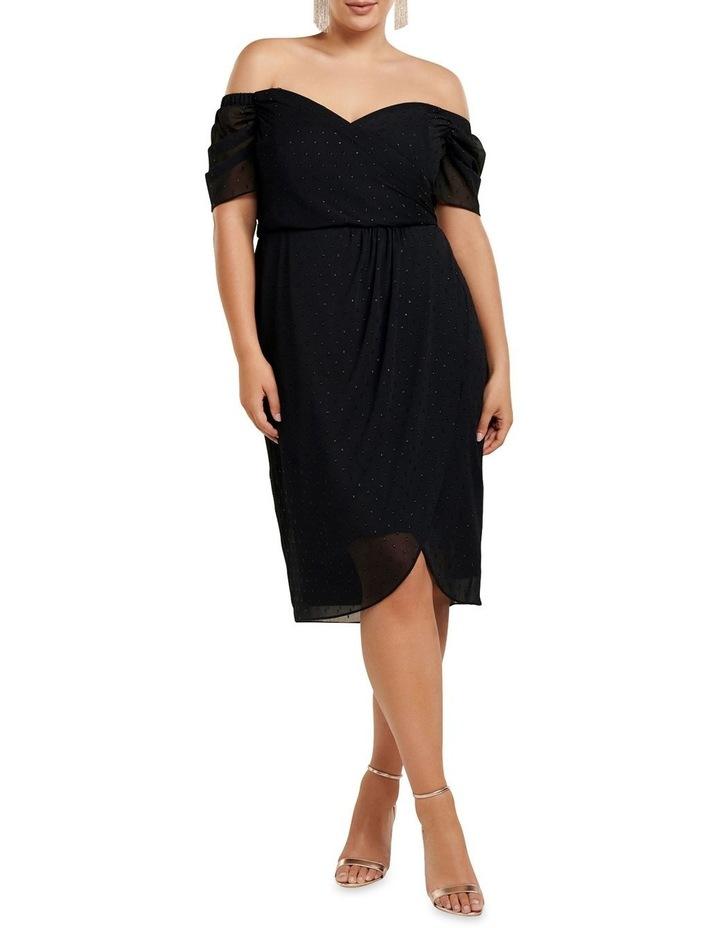 Rachel Metallic Dobby Curve Dress image 1