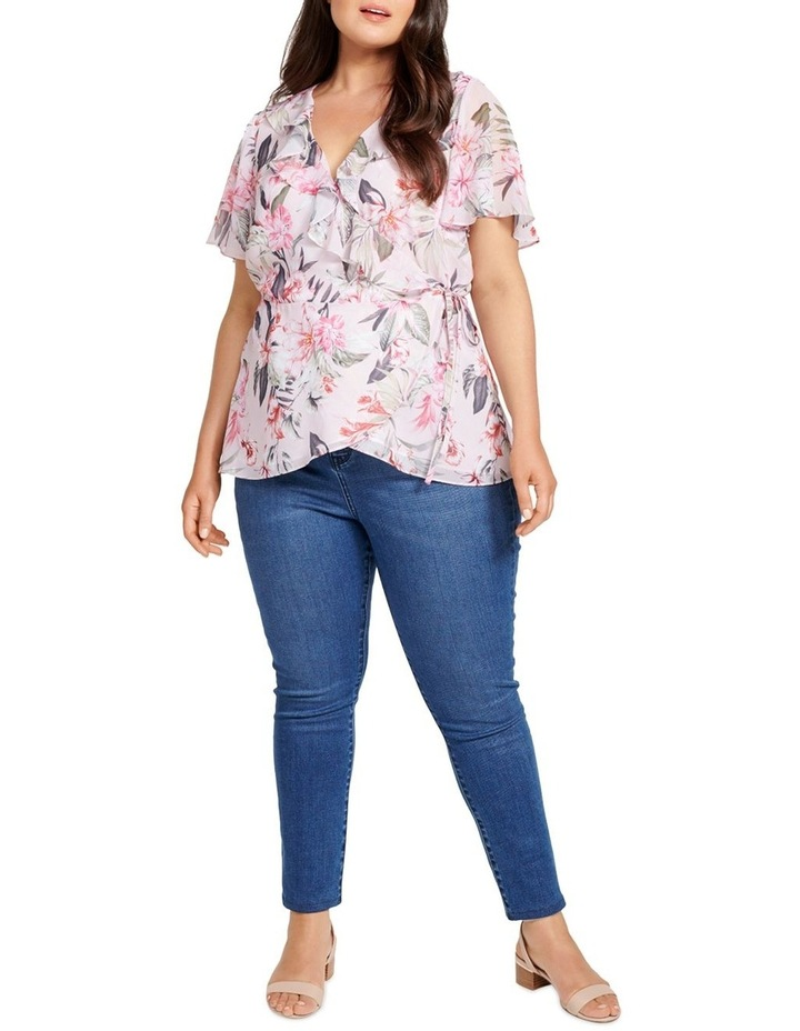 Milly Curve Ruffle Wrap Blouse image 4