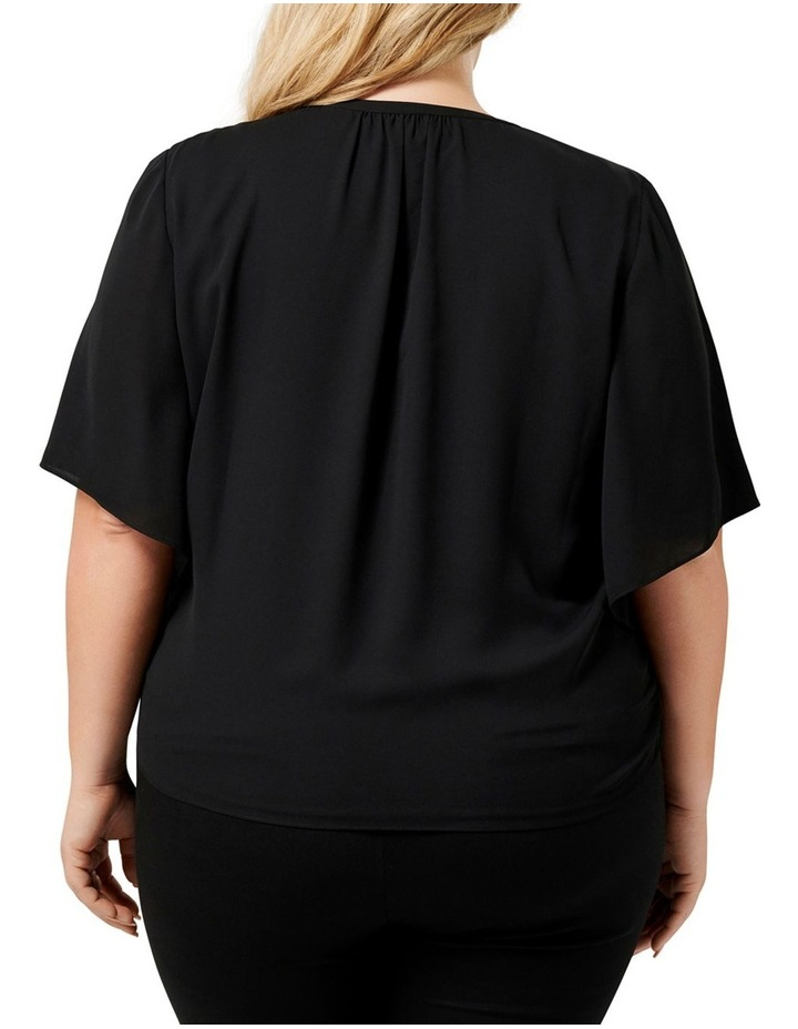Bailey Collared Curve Wrap Blouse image 3