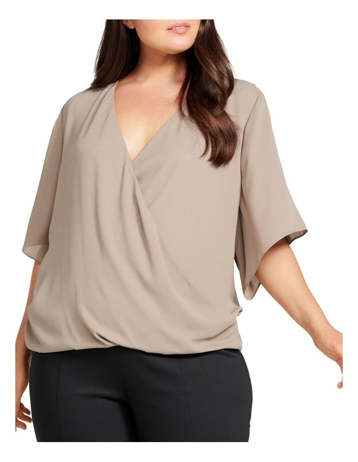 Bailey Collared Curve Wrap Blouse image 1