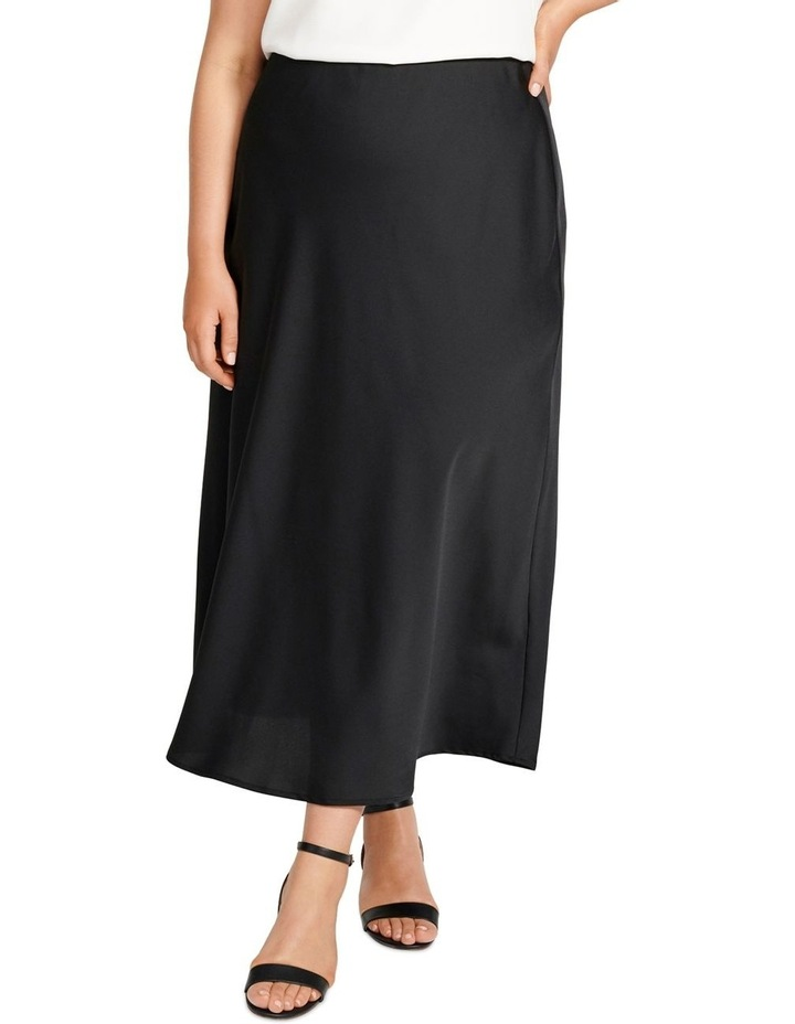 Billie Satin Bias Midi Skirt image 1