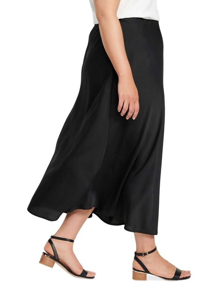 Billie Satin Bias Midi Skirt image 2