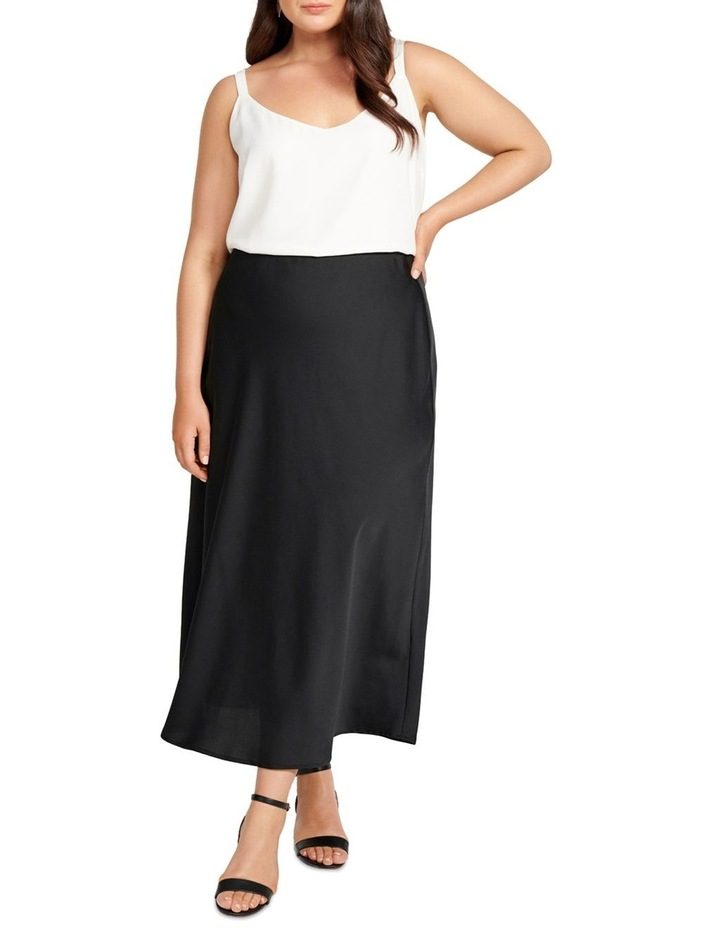 Billie Satin Bias Midi Skirt image 4