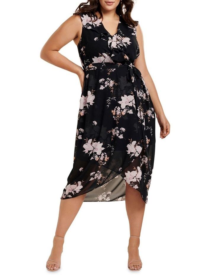 Ella Ruffle Wrap Curve Maxi Dress image 1