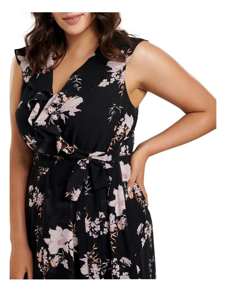 Ella Ruffle Wrap Curve Maxi Dress image 2