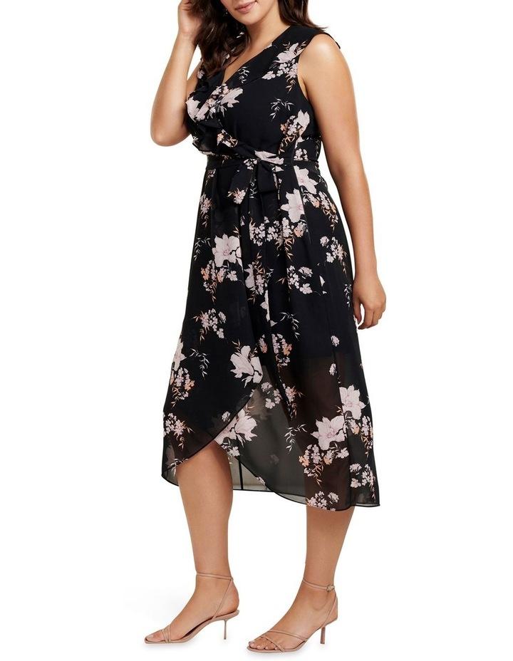 Ella Ruffle Wrap Curve Maxi Dress image 3
