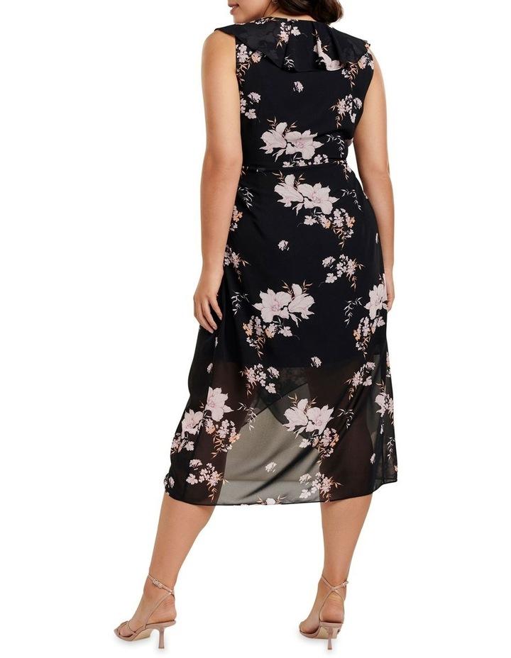 Ella Ruffle Wrap Curve Maxi Dress image 4