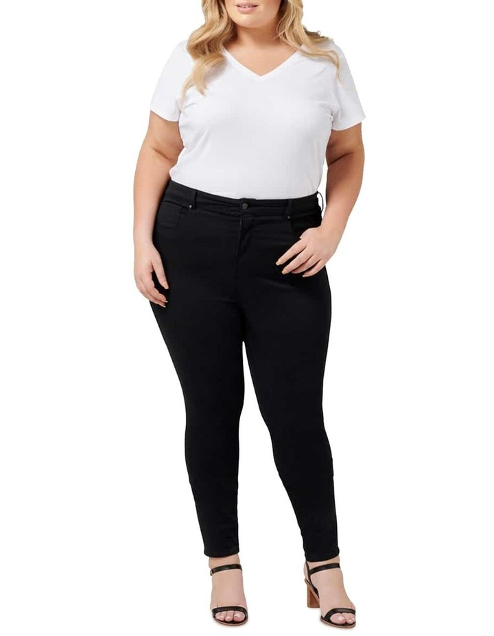 Bianca Curve High Rise Ankle Grazer Jeans image 5