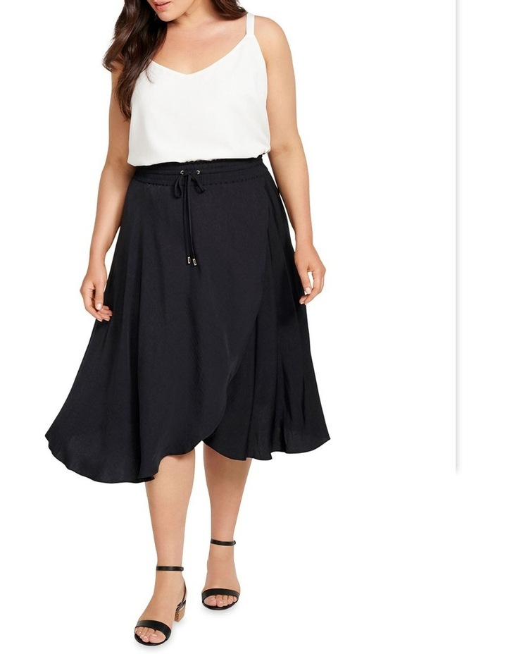 Clara Elastic Waist Curve Wrap Skirt image 4