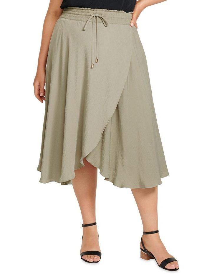 Clara Elastic Waist Curve Wrap Skirt image 1