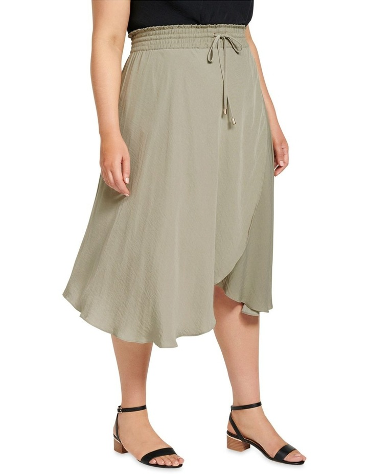 Clara Elastic Waist Curve Wrap Skirt image 2