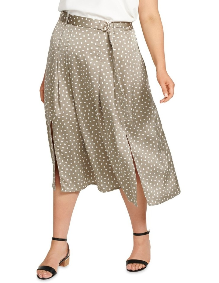 Natasha Split Front Pleat Curve Midi Skirt image 1