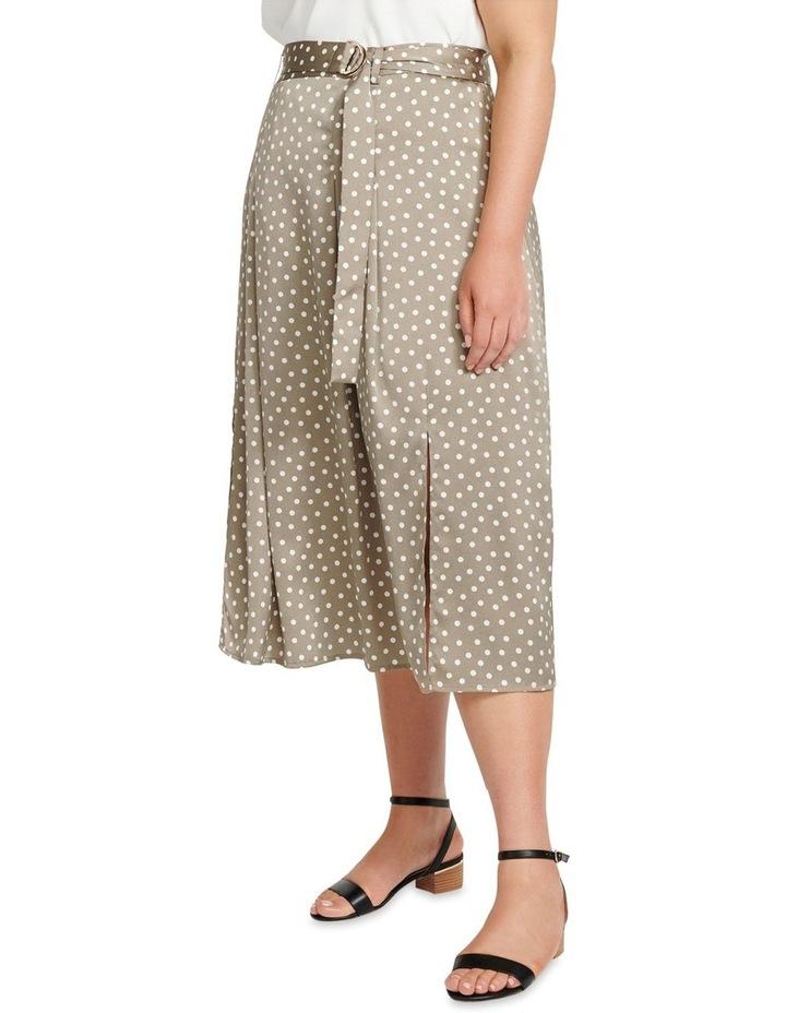 Natasha Split Front Pleat Curve Midi Skirt image 2