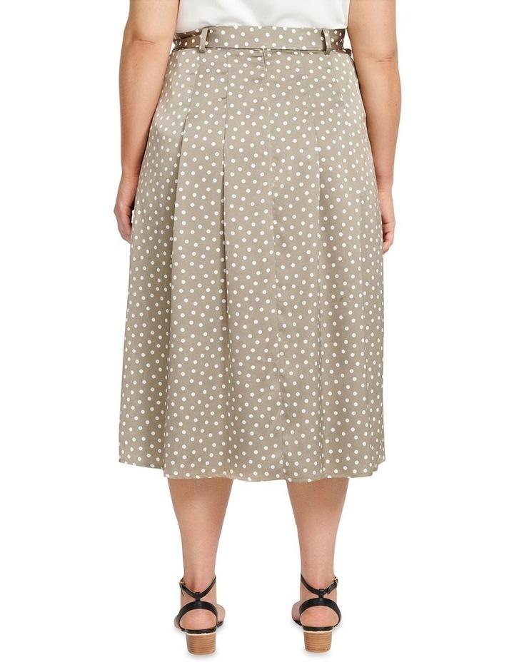 Natasha Split Front Pleat Curve Midi Skirt image 3