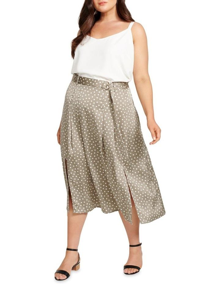 Natasha Split Front Pleat Curve Midi Skirt image 4