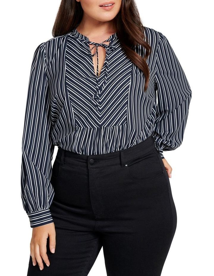 Sonia Neck Tie Curve Blouse image 2
