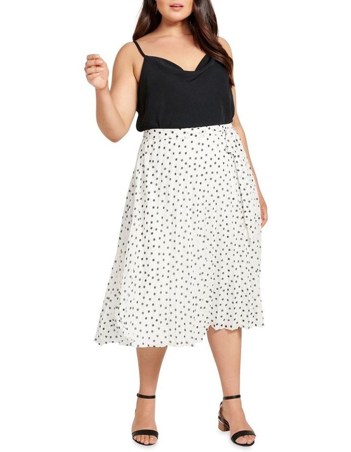 Avery Tie Waist Pleated Skirt image 4