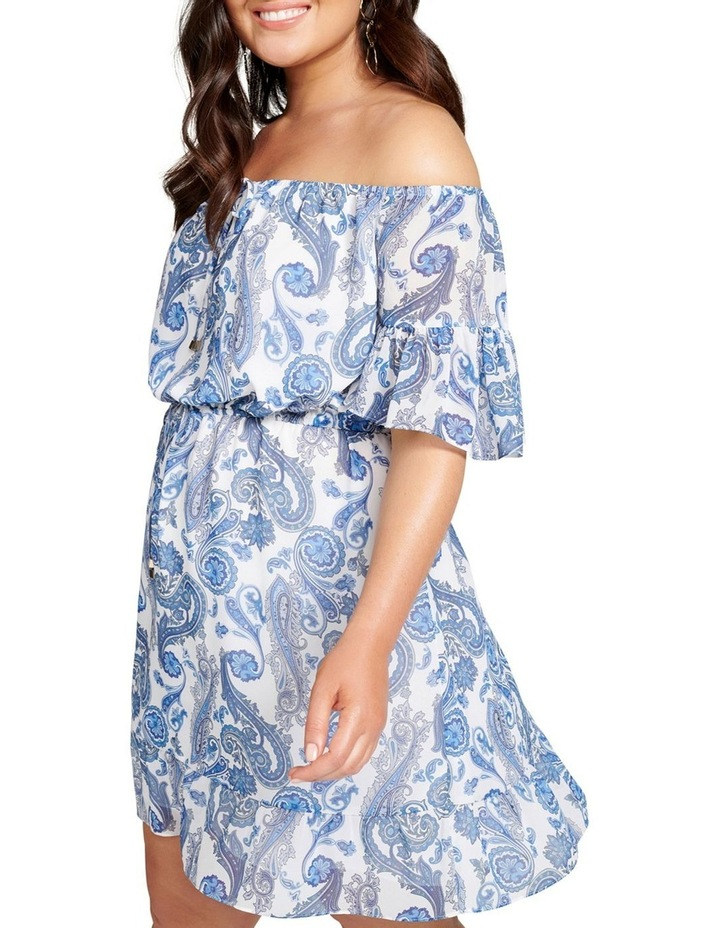 Zoey Flare Sleeve Bardot Curve Dress image 2