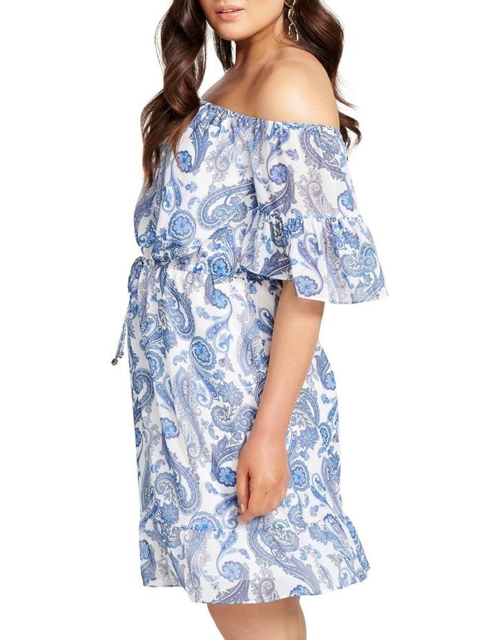 Zoey Flare Sleeve Bardot Curve Dress image 3