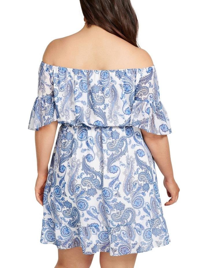 Zoey Flare Sleeve Bardot Curve Dress image 4