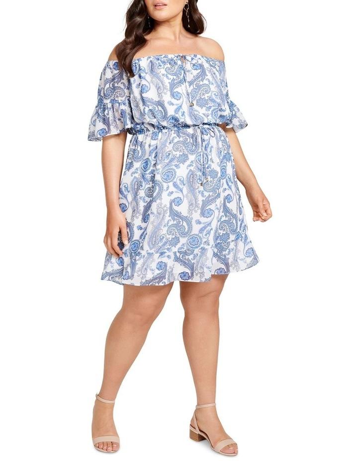 Zoey Flare Sleeve Bardot Curve Dress image 5