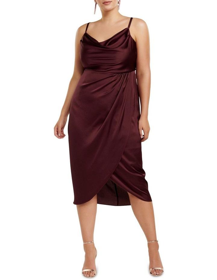 Holly Cowl Neck Midi Curve Dress image 1