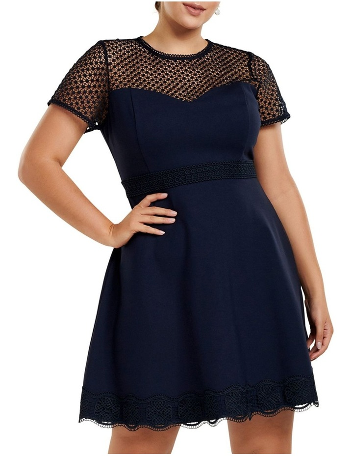 Daria Lace Trim Ponte Curve Dress image 1