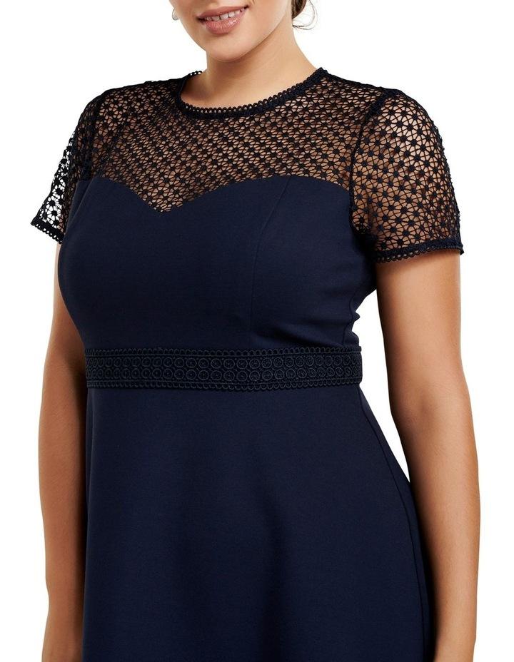 Daria Lace Trim Ponte Curve Dress image 2