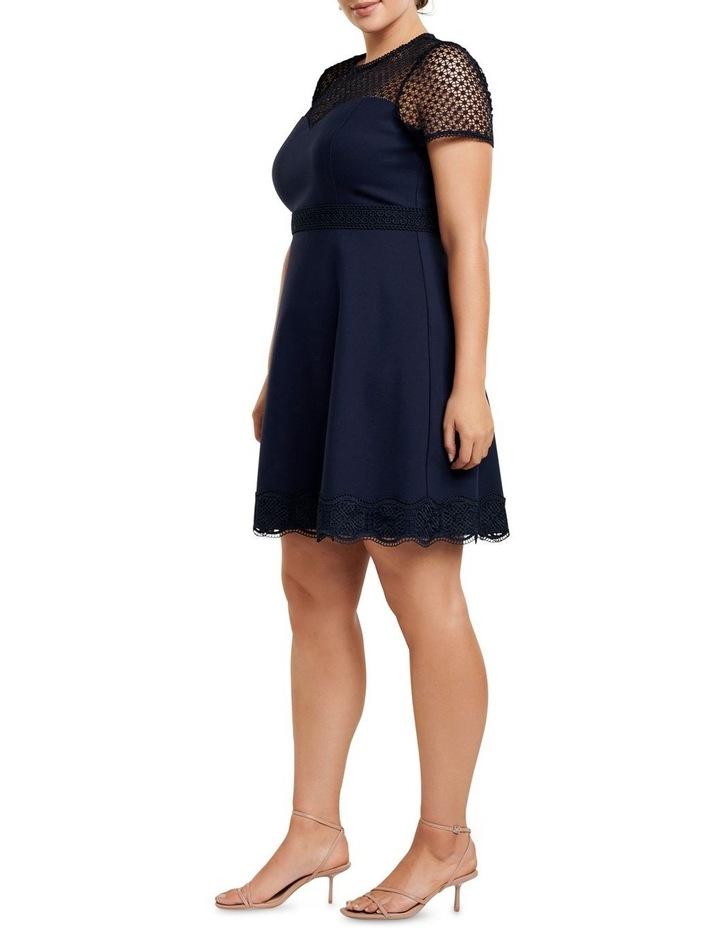 Daria Lace Trim Ponte Curve Dress image 3