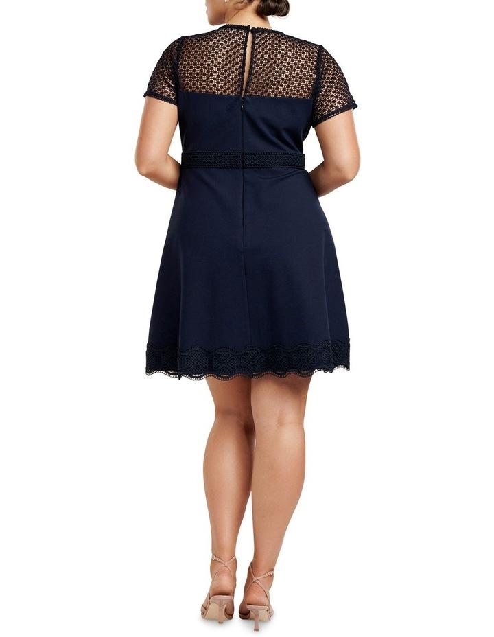 Daria Lace Trim Ponte Curve Dress image 4