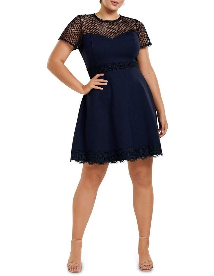 Daria Lace Trim Ponte Curve Dress image 5