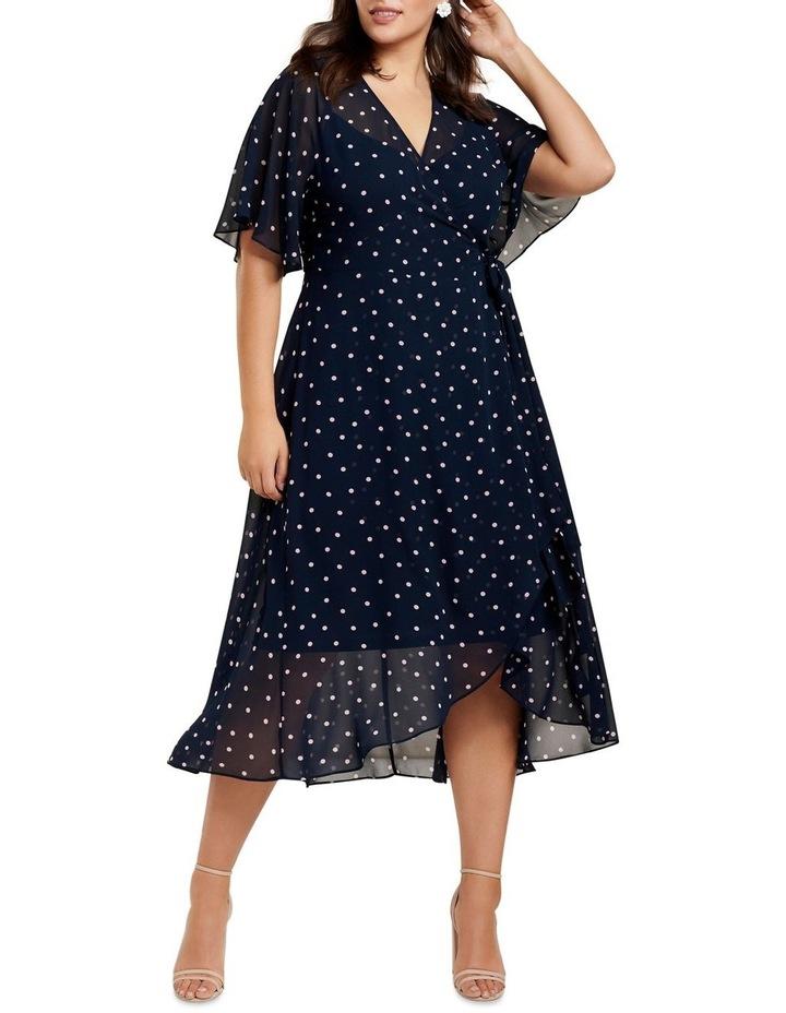 Emma Flutter Wrap Maxi Curve Dress image 1
