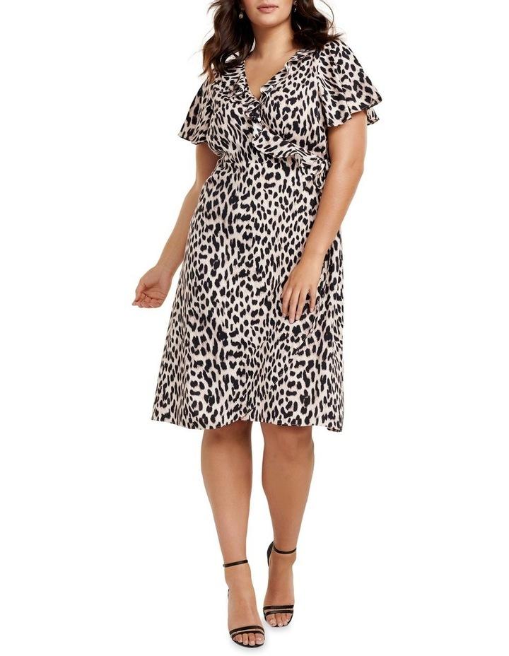 Olivia Ruffle Wrap Midi Curve Dress image 1