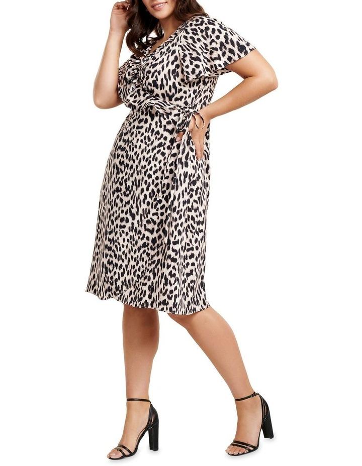 Olivia Ruffle Wrap Midi Curve Dress image 3