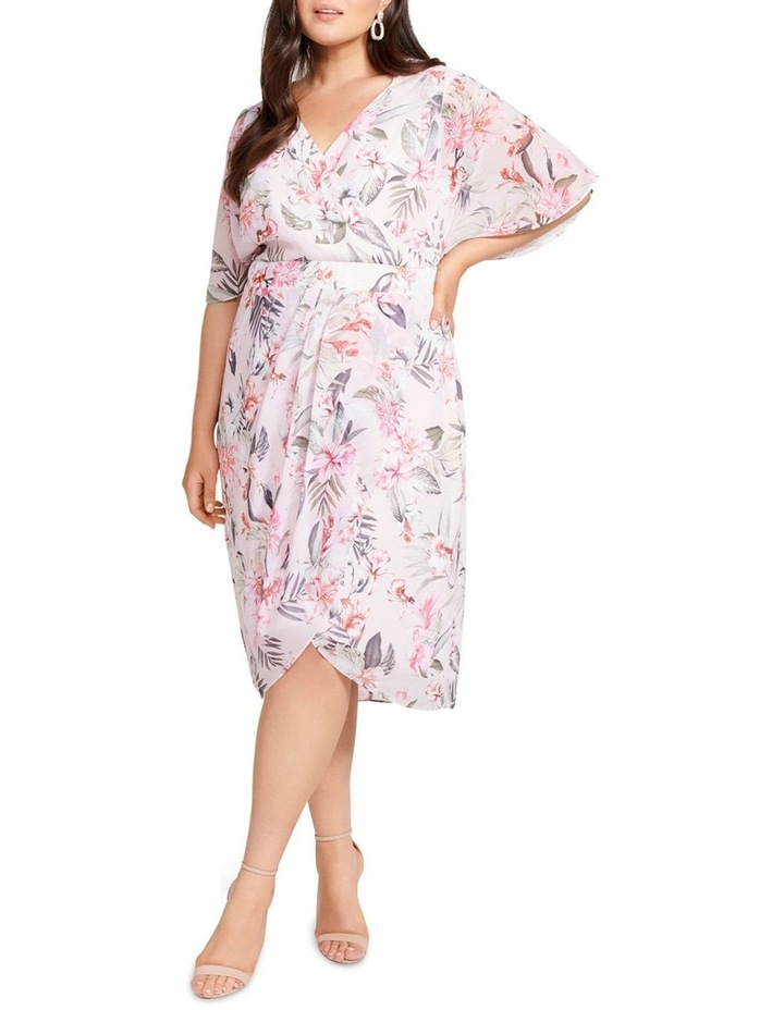 Tori Sleeved Wrap Over Curve Dress image 1