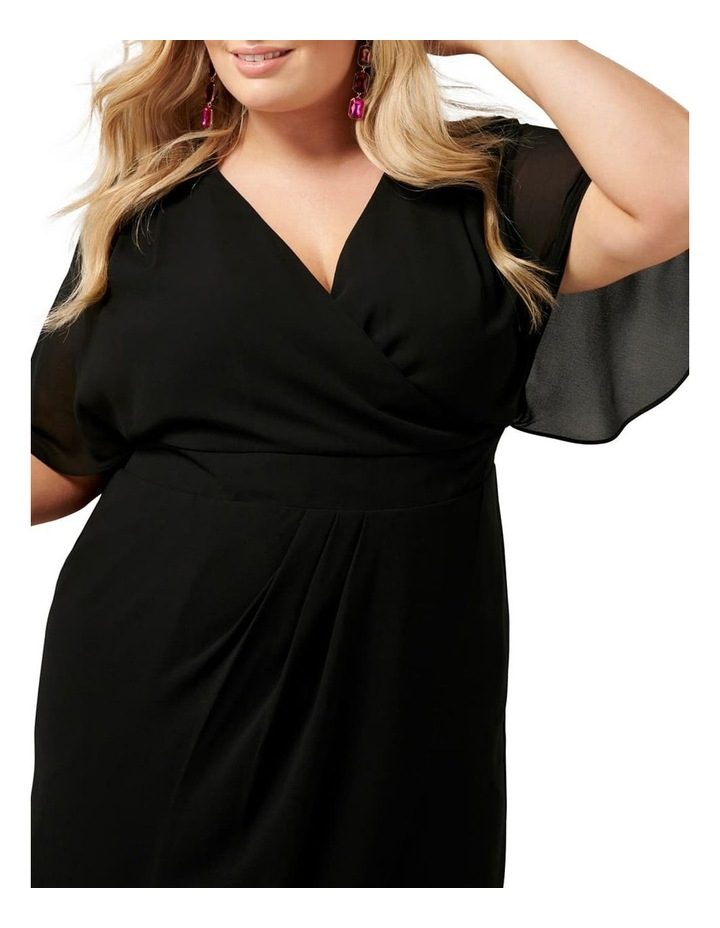 Tori Sleeved Wrap Over Curve Dress image 2