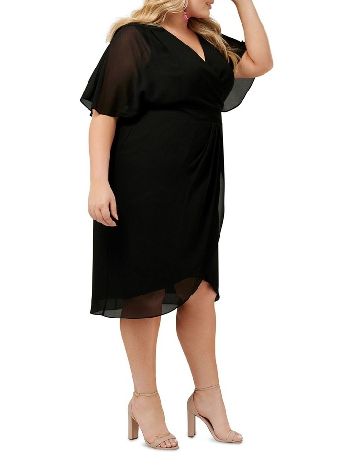 Tori Sleeved Wrap Over Curve Dress image 3